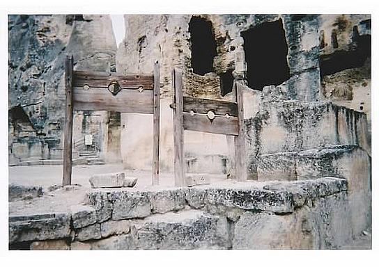 Les Baux ancient stockade